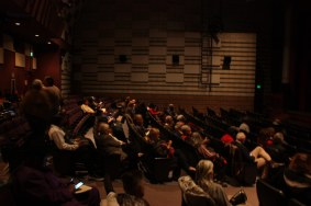 People sitting in The beautiful South Broadway Cultural Center theater