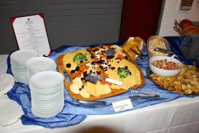 Food tray at buffet