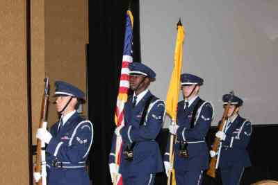 Color guard with US Flag and NM State Flag
