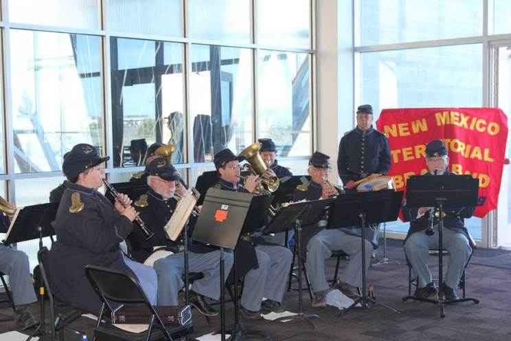 New Mexico Territorial Band in uniform playing instruments at Salute to Our Heroes 2014