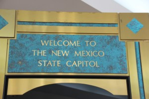 Phot of entry to the New Mexico State Capitol