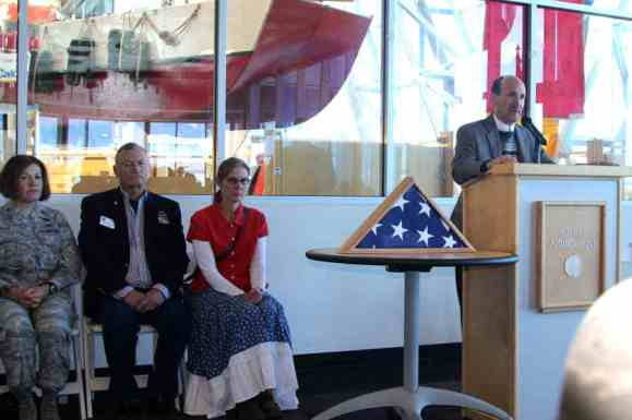 Speakers at Balloon Museum at Salute to Heroes Veterans Day Celebration 2014