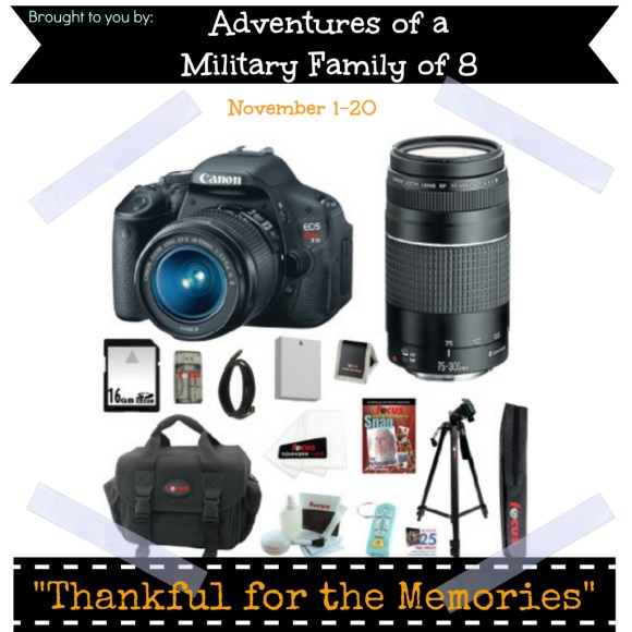 Thankful for the Memories Giveaway: Canon EOS Rebel T3i kit ARV $700+