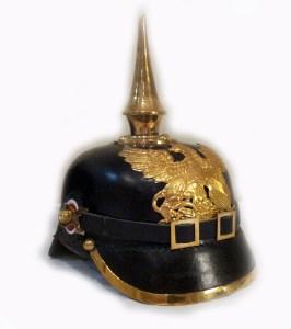 A reproduction officer's helmet, circa 1914. (Image source: MilitaryHistoryNow.com)