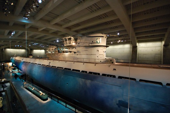 U-505 once prowled the Atlantic in search of Allied Shipping. She now resides in a museum in Chicago.