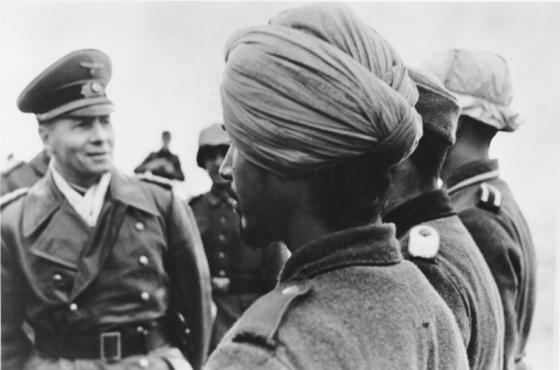 The Germans used troops from Eastern Europe, Central Asia and India to man its defences on the Atlantic Wall. Many of these foreign volunteers saw action on D-Day.