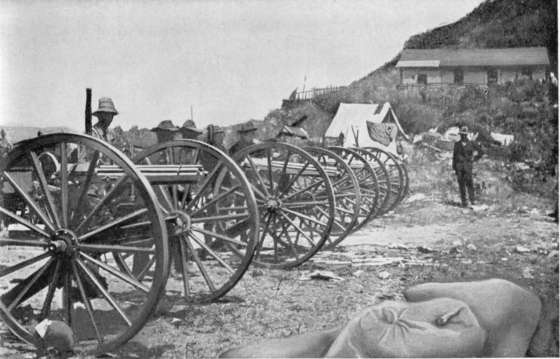 American Gatling Guns during the Spanish American War of 1898.