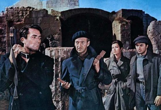 """Gregory Peck and David Niven in """"The Guns of Naverone"""""""