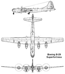 Length – 99 ft. Wingspan – 140 ft. Gross weight – 105,000 lbs. (47,000 kg) Engines – 4X 2,200 hp Wright Double Cyclones Range – 5,800 miles (9,300 km) Ceiling – 31,800 ft. (9,450 m) Top speed – 365 mph (587 km/h) Cruising speed – 220 mph (354 km/h) Crew – 10 Armament – 12x .50 cal. machine guns. Payload – 20,000 lbs.  (9070 kg) HE or incendiary bombs