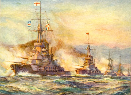 Although the Battle of Jutland in 1916 was the largest naval engagement of the First World War its dwarfed by at least half a dozen other encounters.
