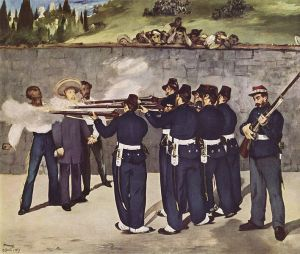 Mexican republicans overthrow and execute their king in 1867. The Austrian born Emperor  Maximilian I was really a puppet ruler placed on Mexico's throne by France's Napoleon III. Confused yet?