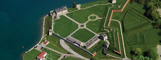 Fort Niagara sits on the shores of Lake Ontario.
