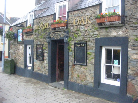 Fishguard's Royal Oak was the site of bizarre surrender ceremony.