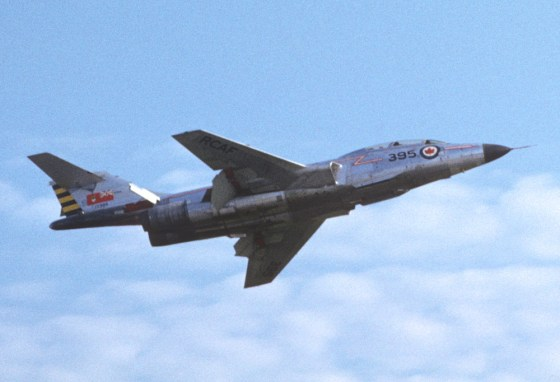 Planes like this 1950s-era CF-101 Voodoo might have fired nuclear tipped air-to-air missiles.