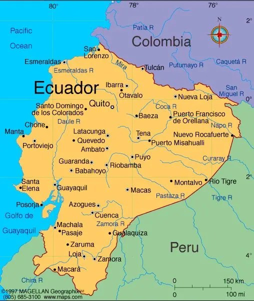 Sideshow War Peru Fights Ecuador During WWs Darkest Hour - Ecuador provinces map