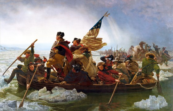 Washington Crossing the Delaware -- an American painting? Not quite.