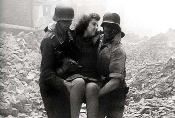 The 1943 Allied bombing of Berlin served as the setting for the Nazi epic Life Goes On.