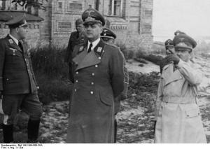 Alfred Rosenberg with Adolph Hitler.