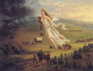 Many 19th century Americans believed that westward expansion was a sort of sacred mission as this painting suggests.