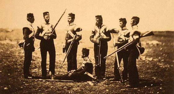 Soldiers of the 68th Durham Regiment as depicted by 19th Century war photographer, Roger Fenton. The unfolding crisis in the Black Sea has spawned renewed interest in the Crimean War.