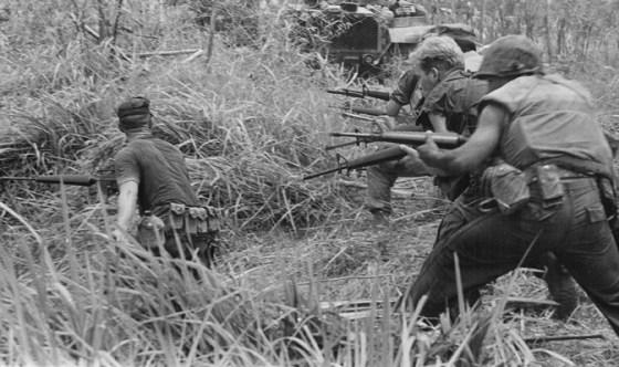 Marines in action in Vietnam.