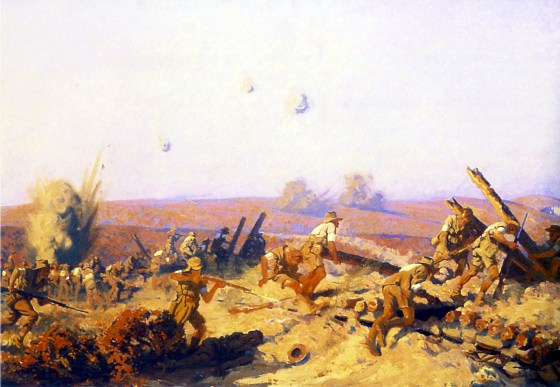 The Taking of Lone Pine by Fred Leist. More than nine Australians and one New Zealanders won Victoria Crosses during the Gallipoli.