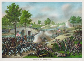 The Battle of Antietam by Louis Kurz and Alexander Allison.