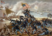 The 54th Massachusetts storms Fort Wagner.