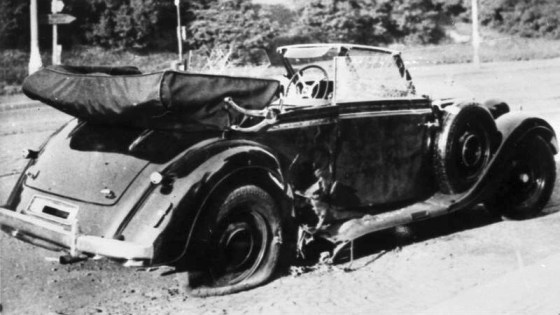 British trained Czechoslovakian agents ambushed and fatally wounded the ruthless SS king-pin in Prague on May 27, 1942. German intelligence wrongly believed the assassins came from the nearby town Lidice. Hitler ordered his troops to slaughter the inhabitants by way of a reprisal. The attack enraged the Western Allies.