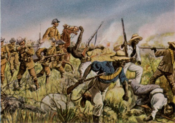 German light troops crush Herero rebels in Africa, 1904. The brutal campaign that followed was a blue-print for some of the modern era's worst war crimes.