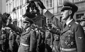Reinhard Heydrich (right foreground).
