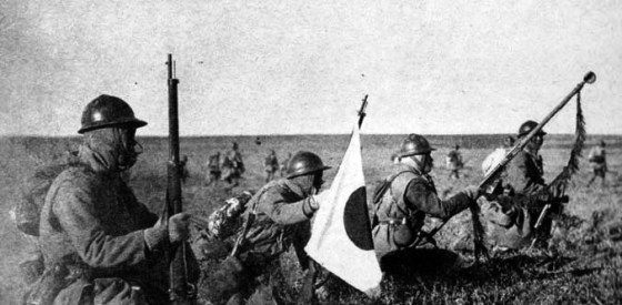 Japanese troops in Manchuria, 1931.