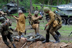 World War Two reenactments like this one have grown in popularity in recent years. Image courtesy WikiCommons.