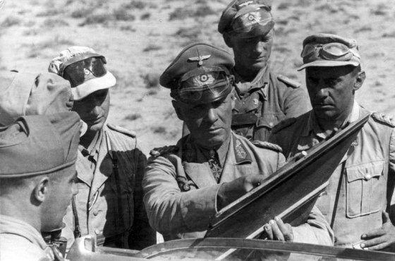 Rommel directs the Afrika Korps, 1941. Image courtesy of the German Federal Archive via WikiCommons.