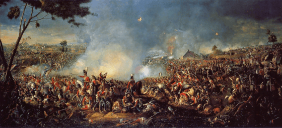 The Battle of Waterloo. (Image source: WikiCommons)