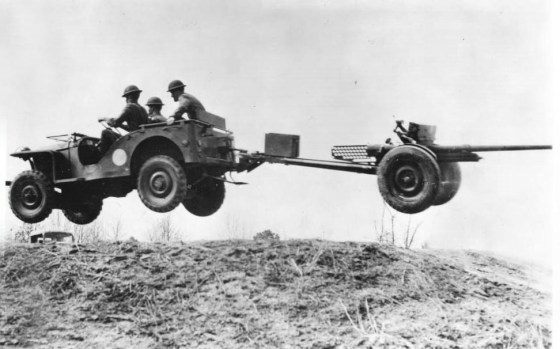 """Meet the Jeep"" wrote Scientific American in early 1942. ""The United States Army's answer to Schicklegruber's Panzer divisions."""