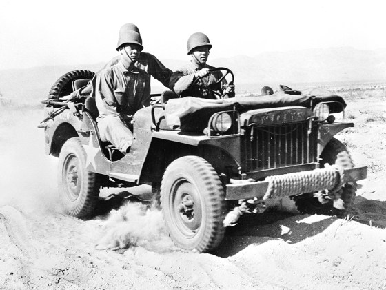 Nearly 650,000 jeeps were manufactured during World War Two.