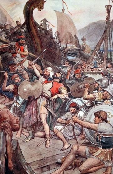 Plus de 40 000 Perses se sont noyés à Salamine.