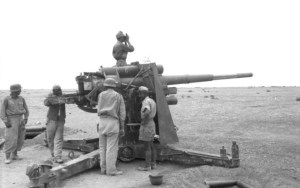 Originally designed as an anti-aircraft cannon, the 88 excelled at holing Allied tanks.