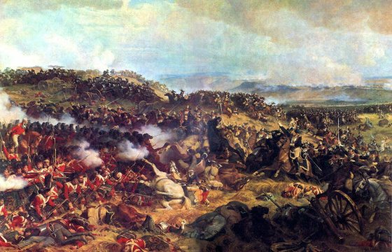 The charge of the French Cuirassiers at Waterloo. (Source: WikiCommons Media)