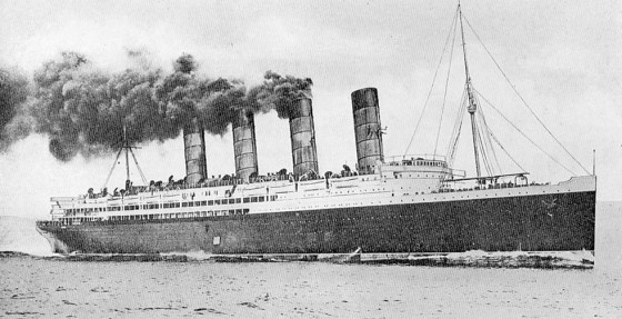 RMS Lusitania. (Source: WikiCommons Media)