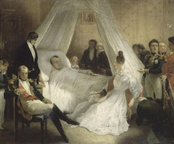 Napoleon on his deathbed. (Image source: WikiCommons)