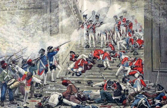 When revolutionaries stormed the French royal palace in 1792, King Louis' Swiss Guard fought them to the death. More than 600 of the hired guns died in the battle.