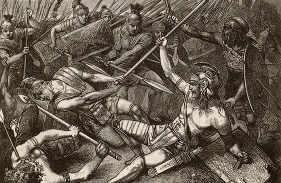 The death of Spartacus. (Image source: WikiCommons)