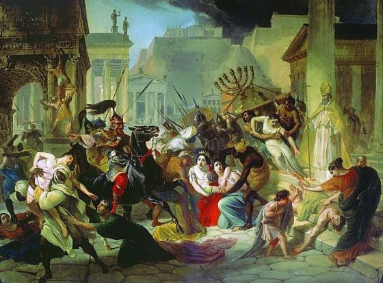 The Vandals sack Rome in 455 CE. (Image source: WikiCommons)