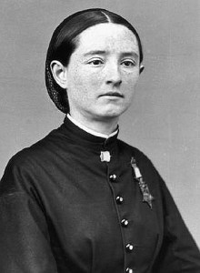 Army surgeon Mary Edwards Walker shown here wearing her Medal of Honor.