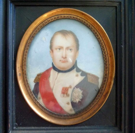 "Copy by George Catlin of the miniature portrait that Joseph Bonaparte said was ""the best likeness"" of Napoleon. Photo courtesy of The Andalusia Foundation. Used with permission."