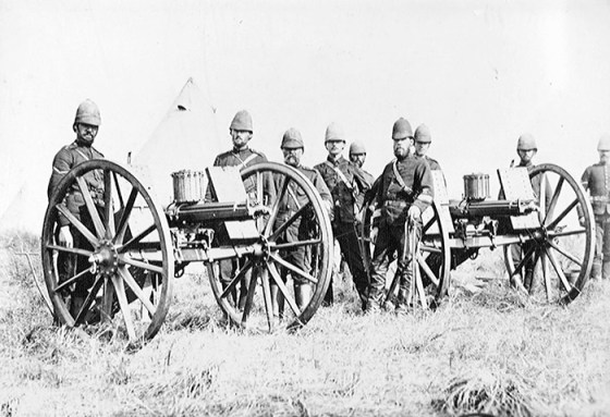A British gatling gun crew in South Africa. The famous American-made weapon also saw action in Afghanistan. (Image source: WikiCommons)