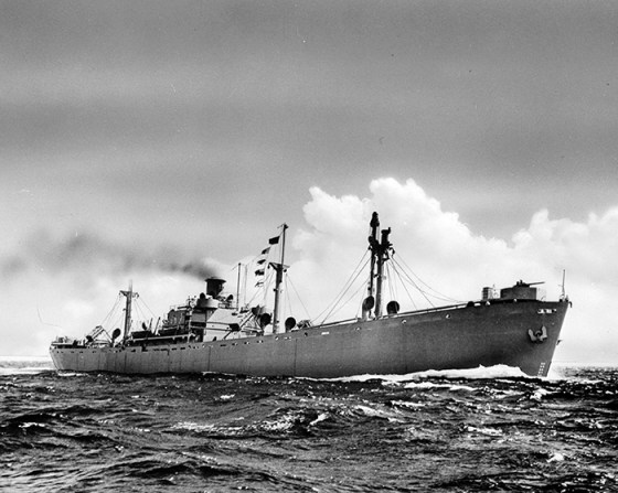 Liberty ships could be built from the keep up in a matter of days. (Image source: WikiCommons)