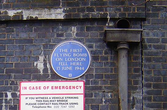 Ground zero of the first V-1 strike. Groves Road, London. Click here to see the location on Google Street View. (Image source: WikiCommons)
